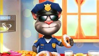 МОЙ ГОВОРЯЩИЙ ТОМ Костюм полицейского 🐱🐱🐱 Том полицейский Мой виртуальный питомец-игровой мультик