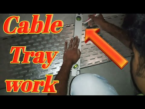 Electrical cable tray work electrical  cable new style 2020 Dubai TV Akhlaq