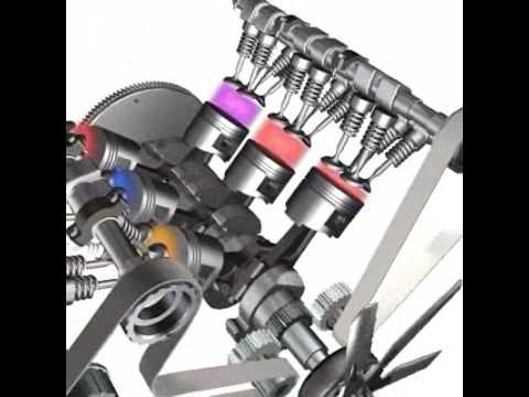 V6 Engine Animation [from www metacafe com] - YouTube