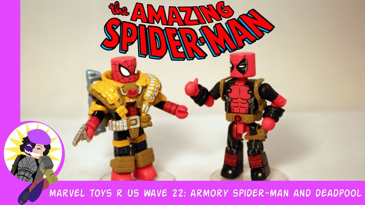 Marvel Toys R Us : Minimates marvel toys r us wave armory spider man and