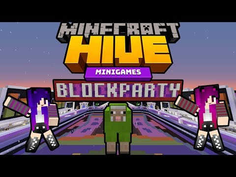 Minecraft: Block Party on the Hive Server / Biggest Dance Party on Minecraft!