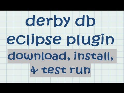 Derby install eclipse