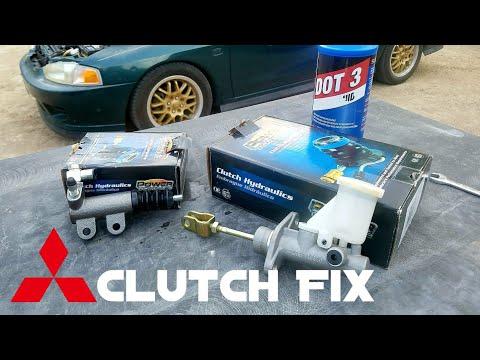 Mitsubishi Mirage Clutch Master / Slave Cylinder Replacement