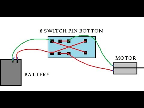 How To Use 8 Pin Switch Button And Wiring Wire Connections In Hindi Youtube