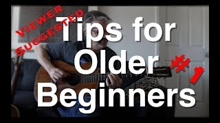 Viewer Suggested Tips for Older Beginners #1 | Tom Strahle |...