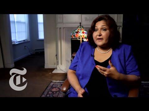Portraits Redrawn: Talat Hamdani  The New York Times