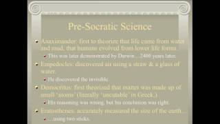 A Brief History of Science: Antiquity to the Late Middle Ages (Part 2-1)