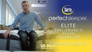 Serta Perfect Sleeper Elite Trelleburg II Plush Pillow Top Mattress Comfort Depth 1