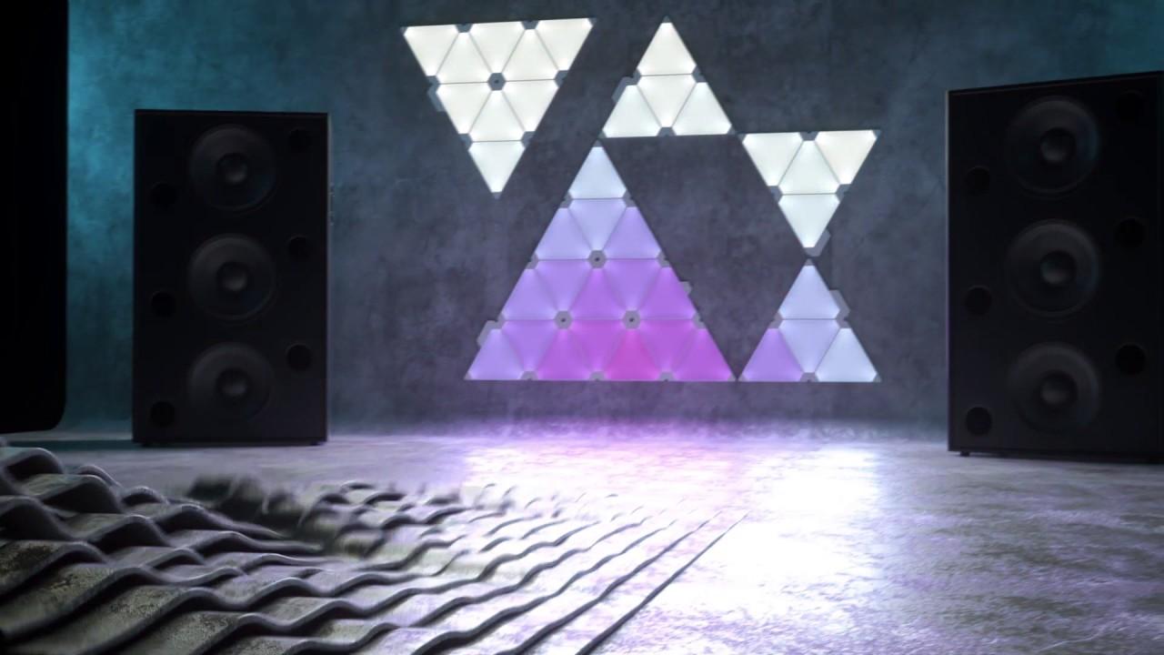 Exclusive Ces 2017 Preview Nanoleaf Light Panels Rhythm