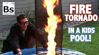 Fire Tornado in a Kids Pool - Science Experiment