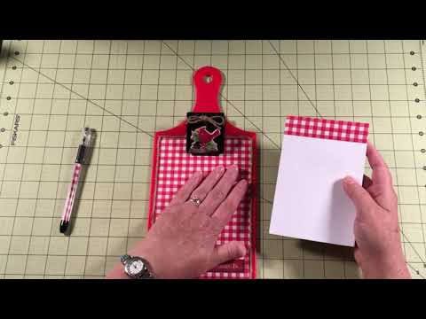 Dollar Tree Pen And Notepad Holder Set---Made With A Cutting Board