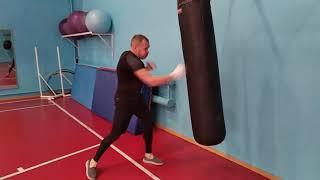 Работа на боксерском мешке спортзал бастион город Глазов