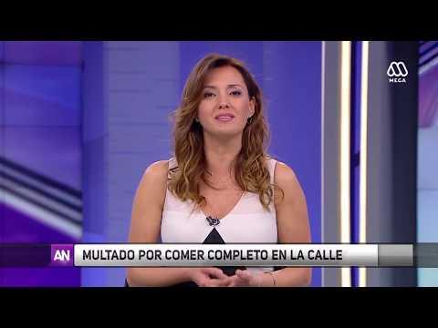 Joven de Concepción recibe multa por comer completo en la calle