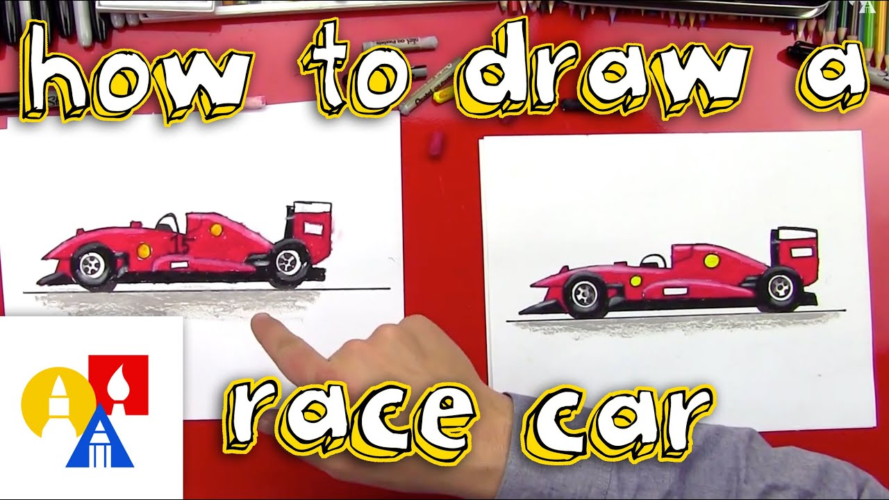 How To Draw A Race Car Youtube