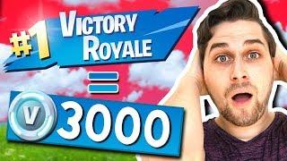 Win = 3000 V-Bucks Challenge met Rudi! 🔥😱 - Fortnite Battle Royale