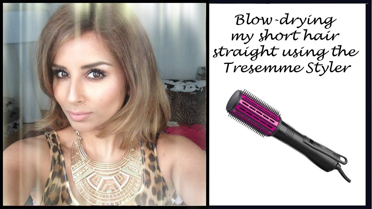 New Hair Colour Amp Blow Drying My Short Hair Straight Using