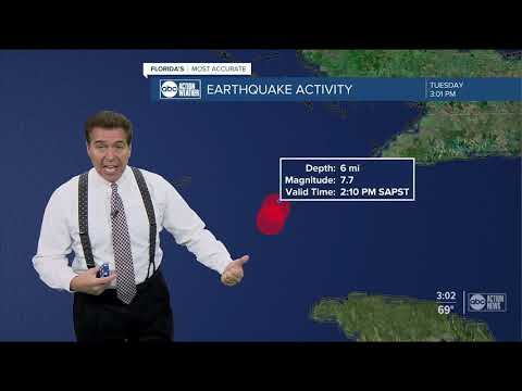 Magnitude 7.7 earthquake hits off coast of Jamaica