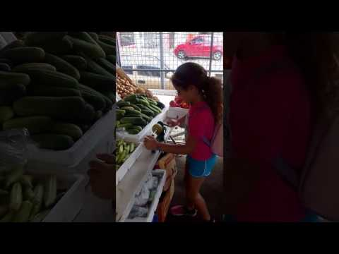 Growing up Caribbean - Jess getting her daily dose of fruits.