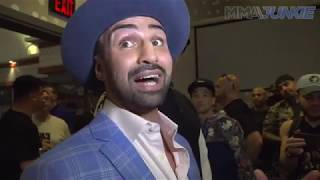 Paulie Malignaggi talks to media after Bare Knuckle FC 6 press conference