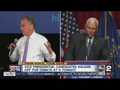 VP Candidates to share the spotlight in debate Tuesday