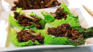 Beef Lettuce wraps in 15 Minutes - Fast and Delicious