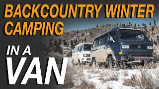 Backcountry Winter Camping In a Van - Living The Van Life thumbnail