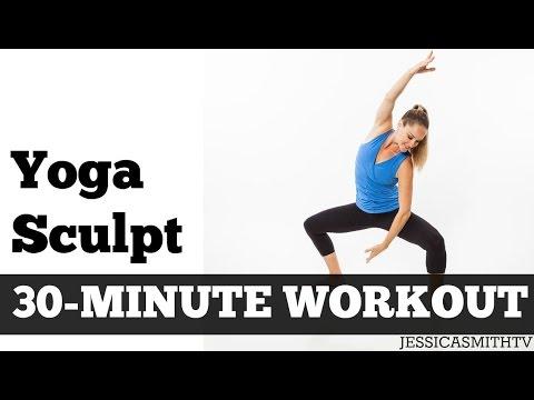 30 Minute Yoga Sculpt |  Full Length Fat Burning Home Exercise Video f…