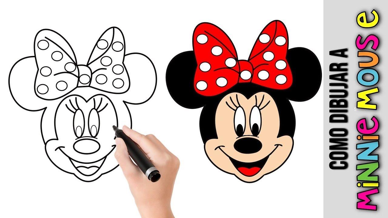 Como Dibujar A Minnie Mouse De Disney Dibujos Faciles Para