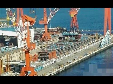 挑戰新聞軍事精華版--中國第一艘自製航母,大連造船廠現身?