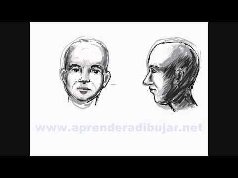 Cmo dibujar caras humanas realistas para comics  Frente y perfil