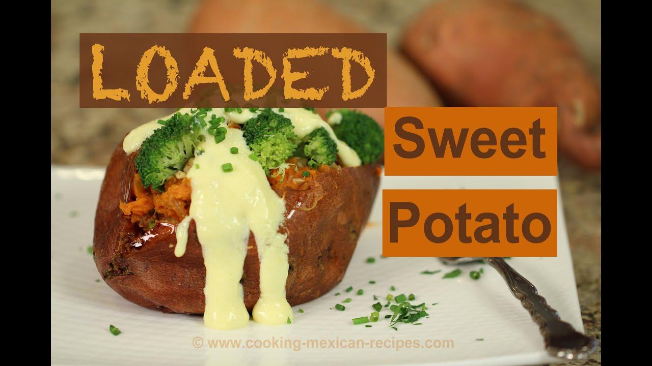 Loaded Sweet Potato Recipe By Rockin Robin