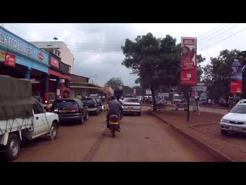 Drving thru Jinja town