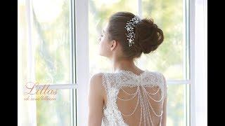 Свадебное украшение для причёски невесты с переливающимися цветочками, чешским стеклом, бисером(, 2016-05-02T09:57:00.000Z)