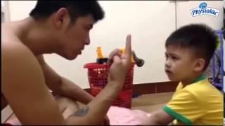 Bố dạy con học đếm cực kỳ buồn cười