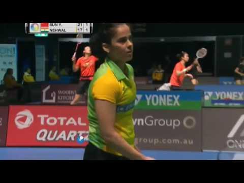 Badminton 2017 Australia Open WS QF - Saina Nehwal vs Sun Yu