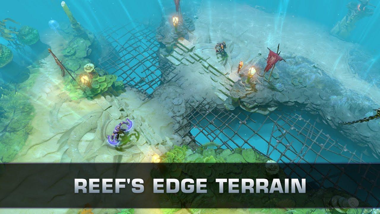 dota 2 reef s edge terrain youtube