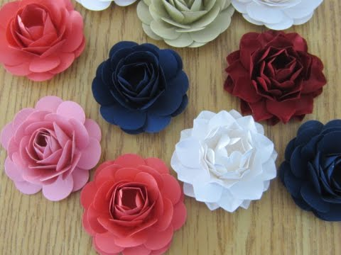How To Make Paper Flowers With Punch