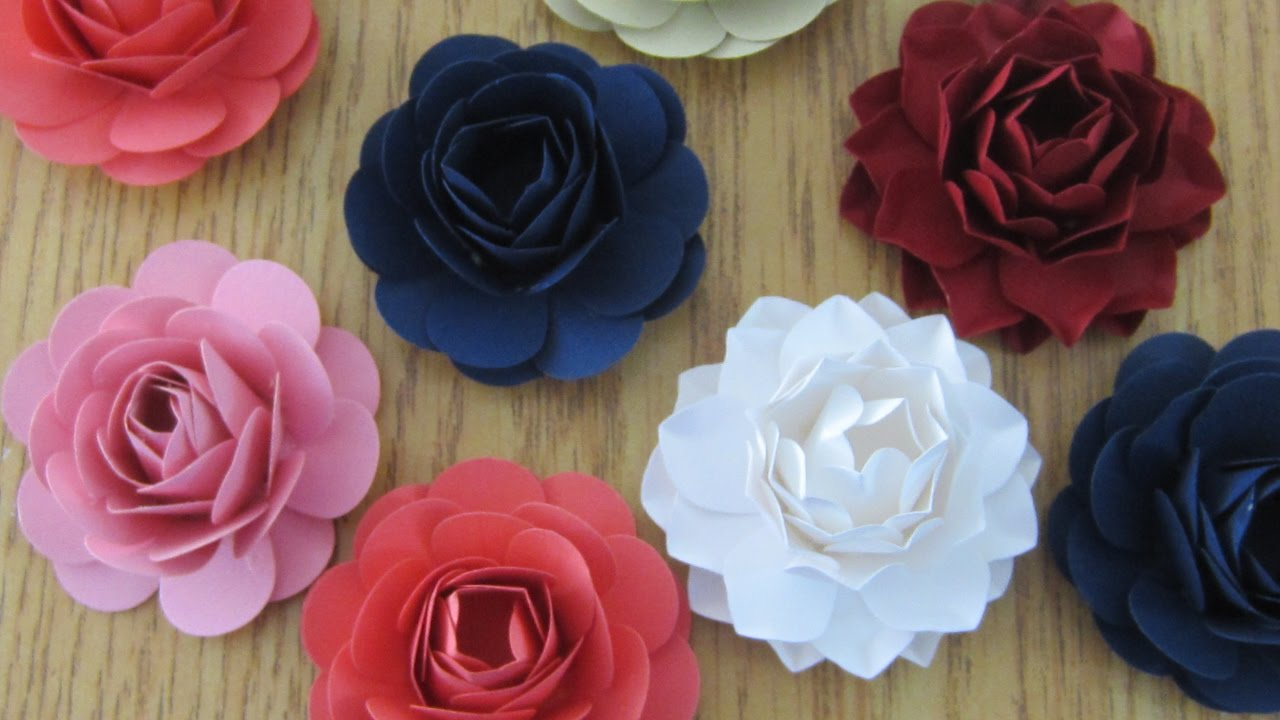 How To Make Paper Flowers With A Punch Youtube