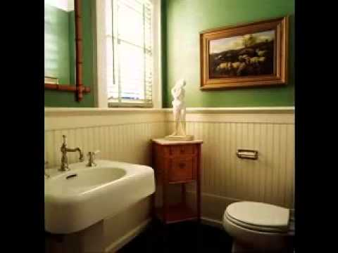 Wainscoting bathroom decorating ideas - YouTube