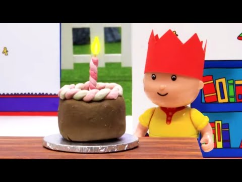 Funny Animated cartoons Kids | Birthday Fun | WATCH ONLINE | Caillou Stop Motion
