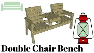 Double Chair Bench with Table Plans