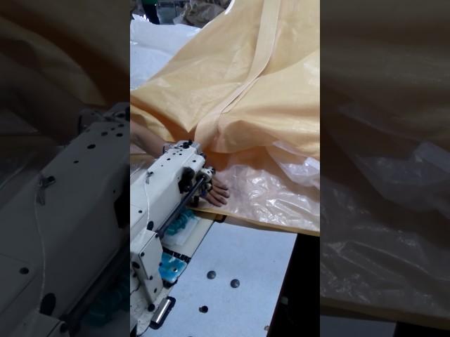 Kỹ thuật may ráp nắp miệng vào thân bao jumbo tròn - Louispack