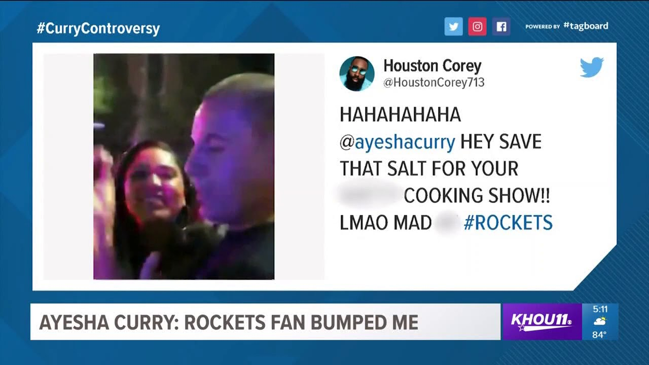Ayesha Curry: Rockets fan bumped me - YouTube