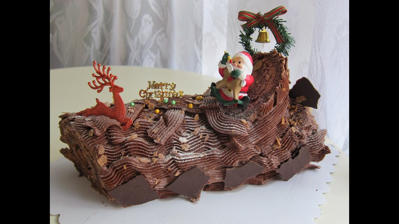 How to make a christmas yule log decoration - Christmas Yule Log Or Buche De Noel Part 1 4 The Chocolate Roulade Youtube