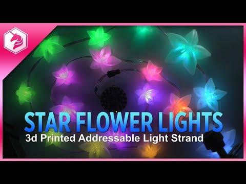 LEARN: Star Flower 3d Printed Light Strand @adafruit #adafruit