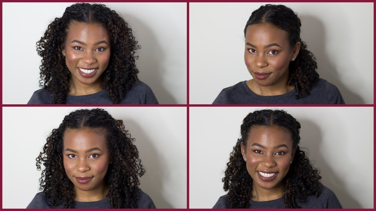 Easy Curly Hairstyles For Lazy Naturals 3a Hair 3b Hair 3c Hair Youtube