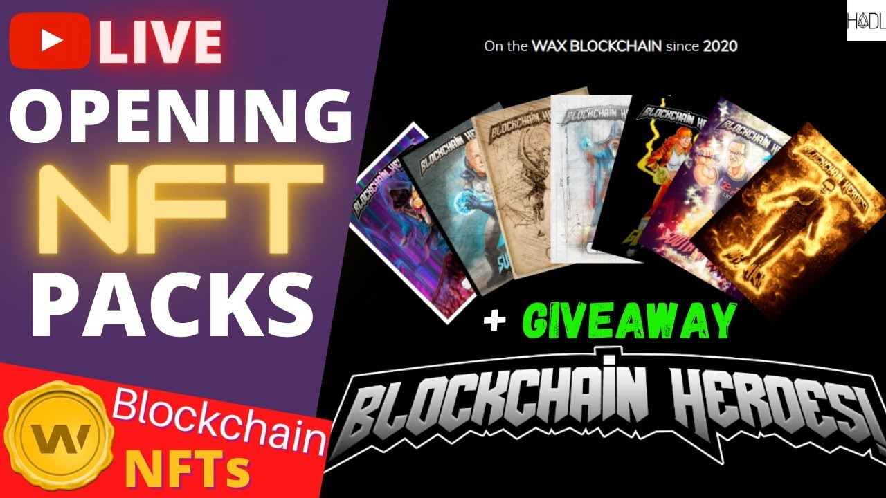 Opening NFT Packs + Giveaways LIVE  - WAX Digital BCH Cards