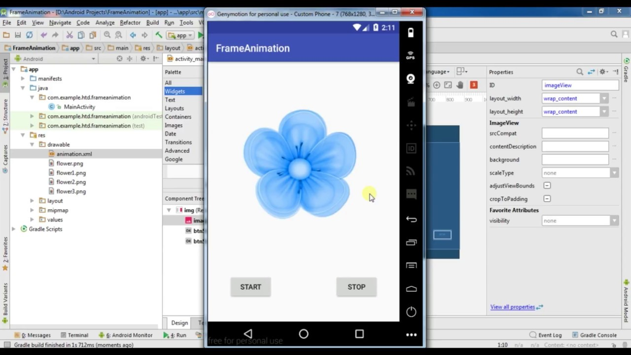Android studio online app tutorial 25 # How to make Frame Animation ...