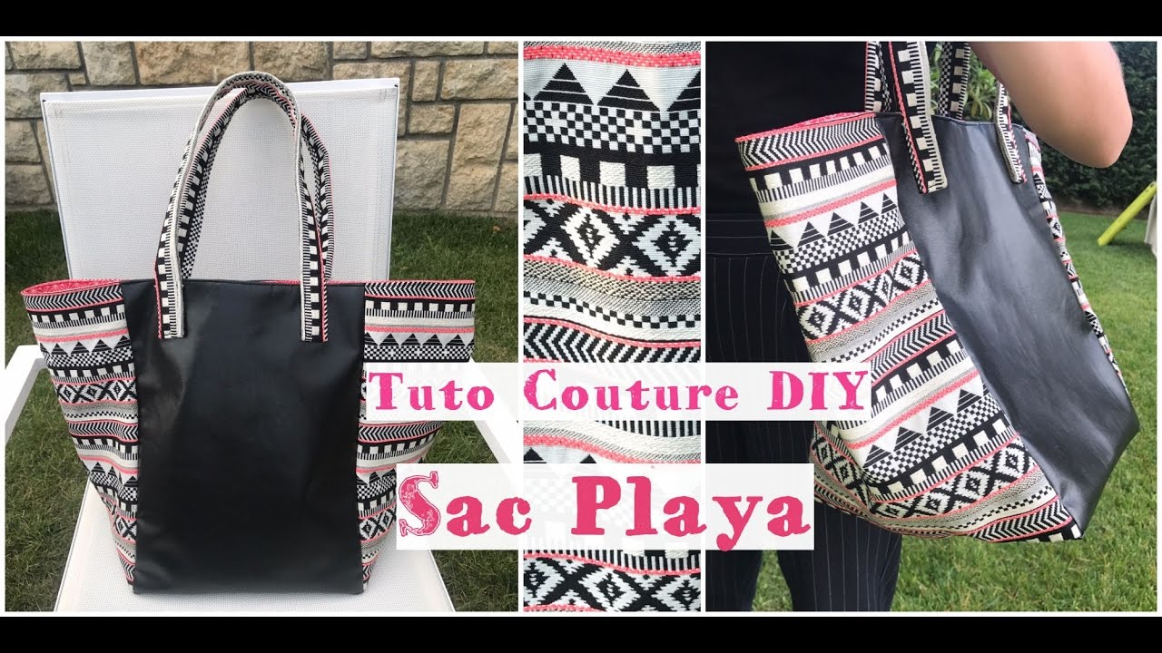 Beliebt Coudre un Sac Cabas Playa - Tuto Couture Facile Débutant - YouTube PS73