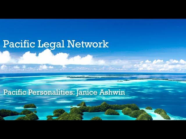 Pacific Personalities Interview: Janice Ashwin